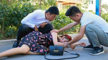 小伙救起路边晕倒女孩, 结果换来一段美好姻缘, 真羡慕啊