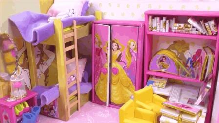 梦幻DIY迷你芭比娃娃屋, 漂亮的房间装饰