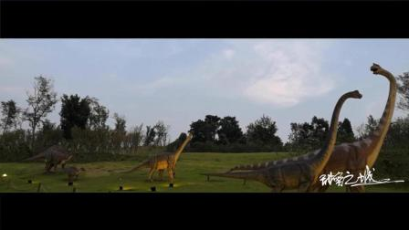 自贡盐都大道上的恐龙雕像