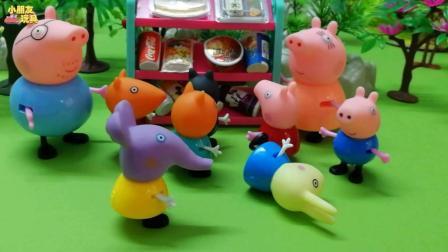 小兔瑞贝卡不吃早餐晕倒在猪爸爸的便利店。
