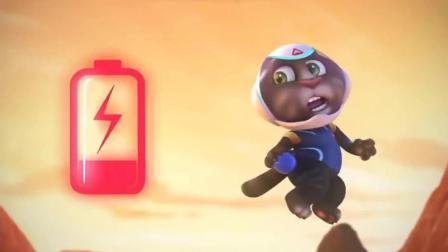 搞笑动画 汤姆猫和安吉拉扔球大战, 结果汤姆猫电量不足失败了