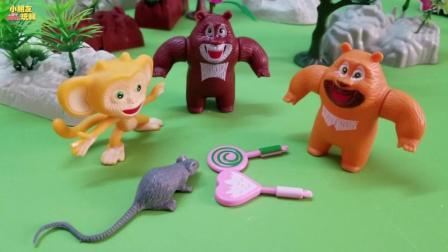 《熊出没》小老鼠偷吃了毛毛的糖果, 毛毛大哭了起来