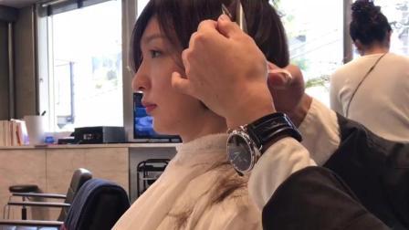日本发型师短发修剪