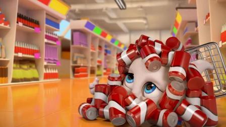 搞笑动画: 汤姆猫与安吉拉超市偶遇 大战争抢甜甜圈 最后汉克赢了