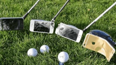 用iphone粘在球杆上, 打出去手机会怎样?