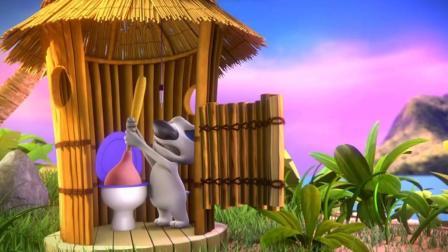 正在旅游的汤姆猫和安吉拉竟被汉克狗的马桶刷吸到马桶里了