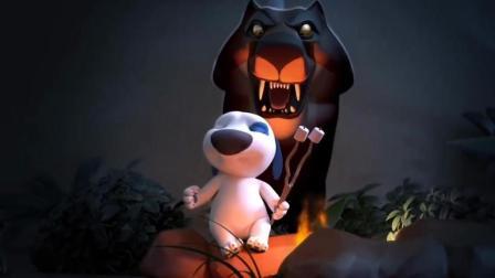 汤姆猫安吉拉晚上户外烧烤竟被一只野兽吓破胆 最后被汉克追着打