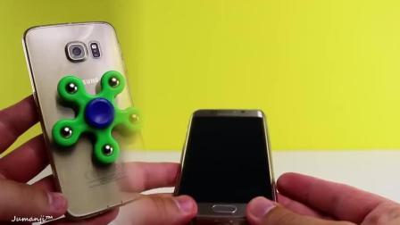 用手机做指尖陀螺, 土豪啊!