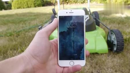 老外用割草机分解iPhone 6, 真带劲!