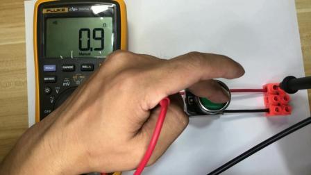 万能表检测按钮开关的常开常闭触点