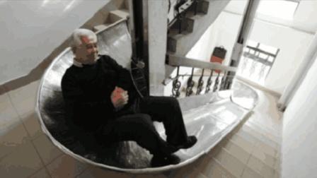 中国大爷发明的逃生电梯, 30层楼90秒就可逃生, 获得国际专利