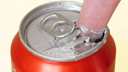 【前方高能】一只手指戳破易拉罐?把镓滴在铝罐上的科学实验反应