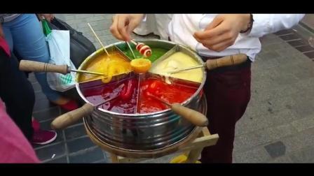 印度街头最畅销的糖果, 大人小孩都在买, 多种口味!