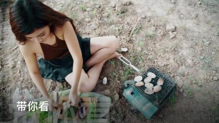 越南美女厨娘户外做美食, 身后环境告诉我吃货是能随时随地开吃的