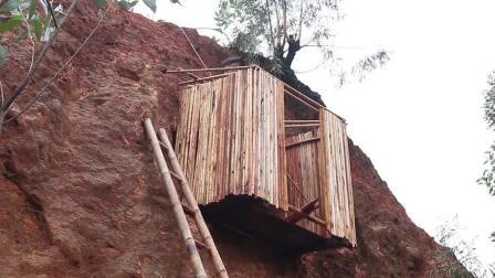 牛人在山壁上建造小屋, 是不是想为难百年后的考古学家?