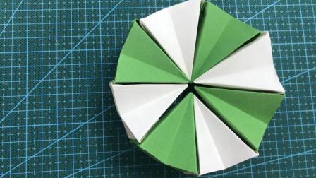 折纸教程 小姐姐教你折有趣的纸环 可以无线翻转哦