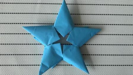 折纸教程 教你折五角星 不能光光会画 也要会折