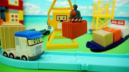 变形警车珀利货运码头儿童玩具故事