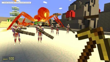 我的世界 迪迦奥特曼拿着加特林大战岩浆蚂蚁