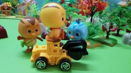 萌鸡小队玩具故事: 很厉害的玩具车