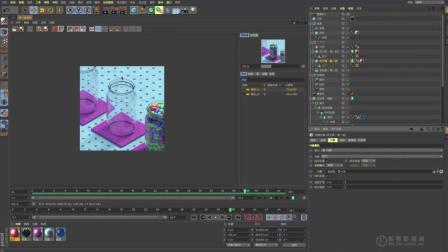 C4D中文教程 - 糖豆 - 01 项目分析(动力学动画R20节点材质)