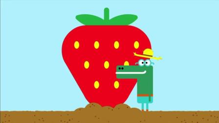 《嗨道奇第一季》海皮真的太聪明了, 自己种了一个大草莓哦