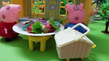 小猪佩奇玩具故事: 一起跟苏西一家去野餐, 开心开心