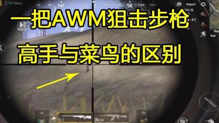 一把AWM狙击步枪高手与菜鸟的使用有何不同