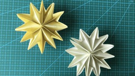 手工折纸 小姐姐教你折纸花 做装饰太适合了