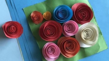 手工折纸 小姐姐教你折玫瑰花 真是简单到不行