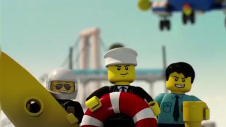 乐高城市拼装玩具动漫: 警察叔叔抓小偷!