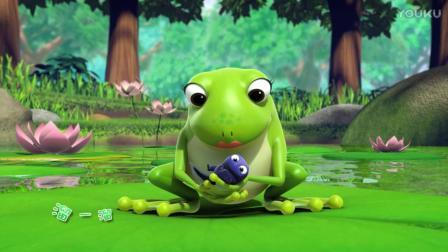《萌鸡小队》一只可爱的小青蛙, 在干嘛呢