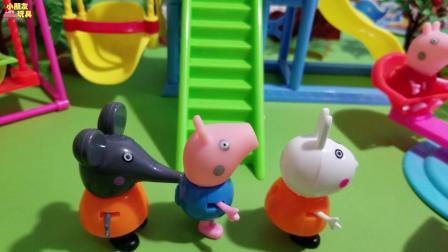 萌鸡小队玩具故事: 萌鸡们今天去游乐场玩, 没想到这么多人, 我们要排队哦!