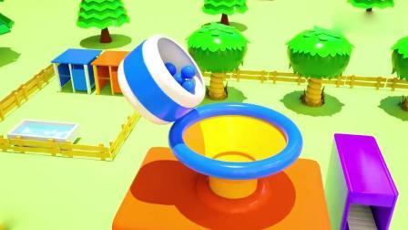 亲子早教动画 3D快乐农场拖拉机农用车运蔬菜趣味学习