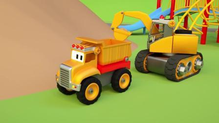 小汽车儿童动画英文儿歌幼儿教育系列(三)小货车运石头