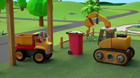 小汽车儿童动画英文儿歌幼儿教育系列(四)爱护环境人人有责