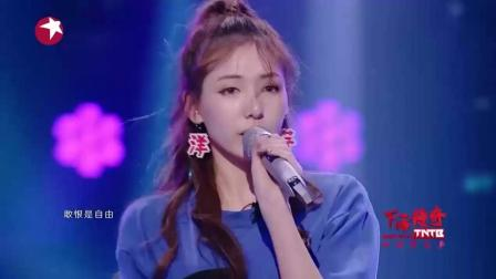 周昱杨甜美表演《糖果》