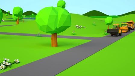 小汽车儿童动画英文儿歌幼儿教育系列(八)小朋友要注意红绿灯哟