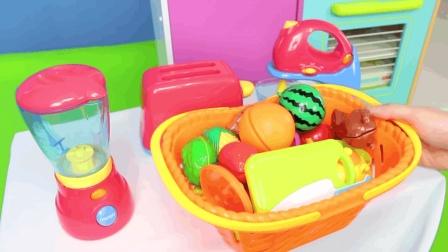 烹饪游戏系列之厨房玩具, 搅拌机和魔术贴切割水果, 冰箱玩具