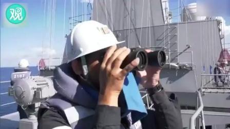 中国海军通话日本加贺号 Glad to meet you
