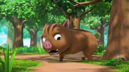 《萌鸡小队》萌鸡小队遇到了一个大野猪!