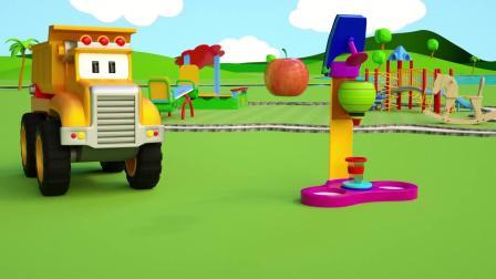 小汽车儿童动画英文儿歌幼儿教育系列(十二)新建游乐园