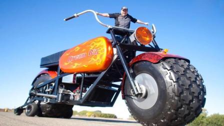 美国大叔打造史上最大摩托车, 长度比迈巴赫都长