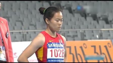 女子100米栏中国选手吴水娇比肩男神刘翔, 轻松拿下冠军!