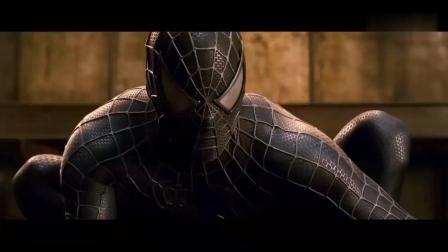蜘蛛侠被毒液附身后, 暴露黑暗恐怖的实力, 竟把沙人怪物给淹了!