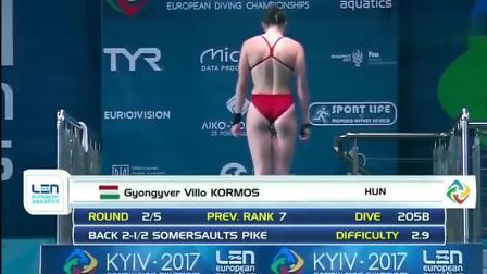 女子跳水比赛, 美女运动员们的各种完美起跳动作, 好美