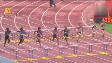 全是美国顶尖短跑运动员, 中国女刘翔尽力了, 我们重头再来!