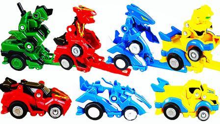 最新跳跃战士变形玩具车视频
