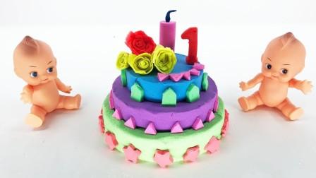 玩具生日蛋糕 玩具宝贝 Cake and Baby