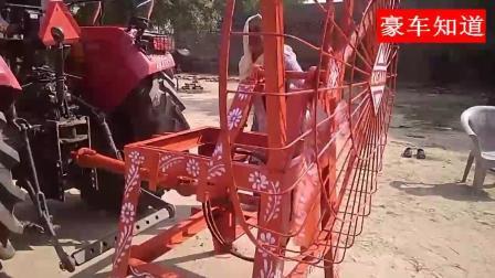 印度拖拉机简直就是万能的, 没有电就用拖拉机带动风扇